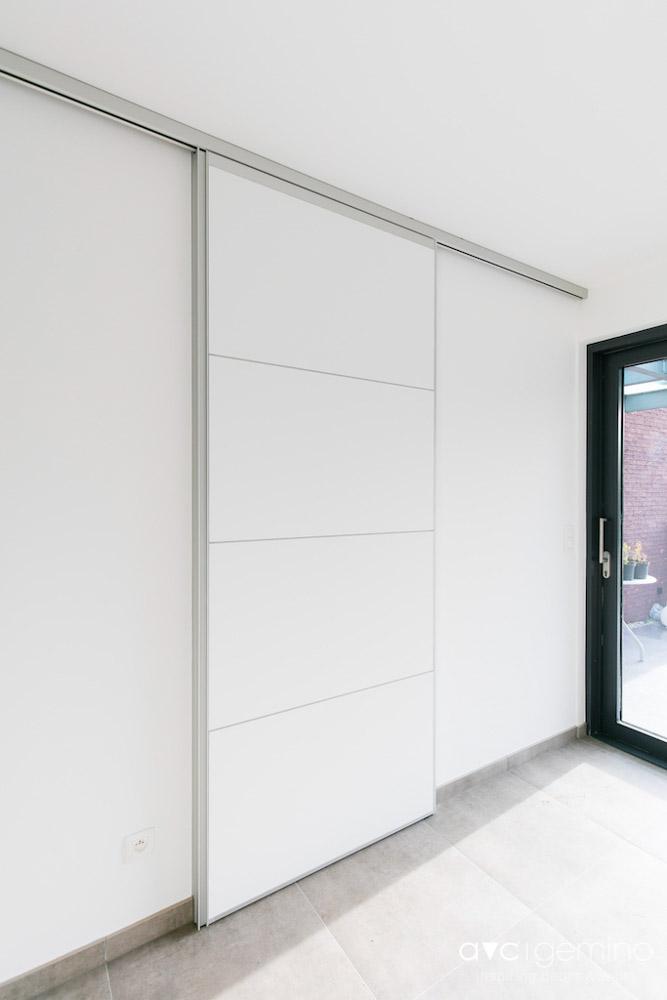 Schuifdeur monovolume avc gemino for Porte coulissante plexiglas