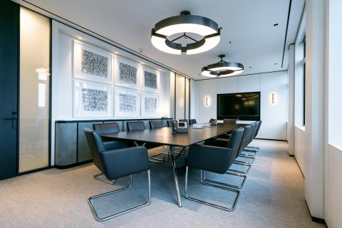 Interior glass doors & walls - Berkeley Square offices London